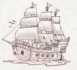 simple pirate ship drawing drawing art gallery