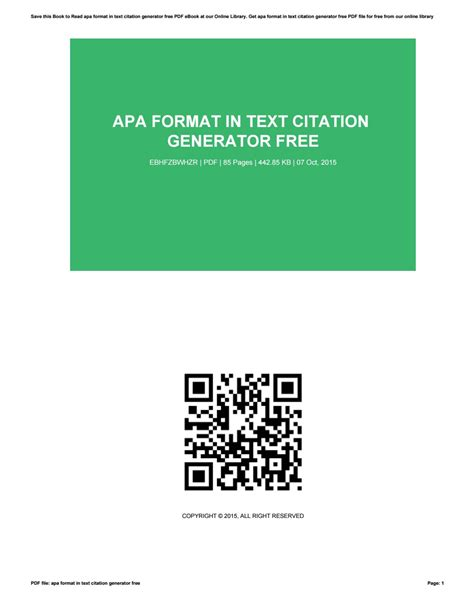 apa format generator online apa format in text citation generator free by