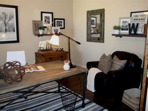 Industrial Office Decor by Rustic Industrial Office Design Eclectic Home Office