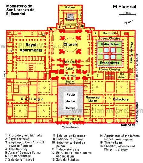 philip amsterdam floor plan plan of the monastery palace of the escorial near madrid