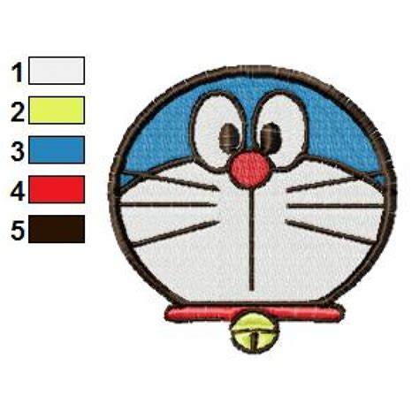 embroidery face doraemon 08 embroidery design
