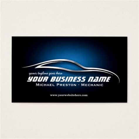 car specialist business card template zazzle automotive business cards gallery card design and
