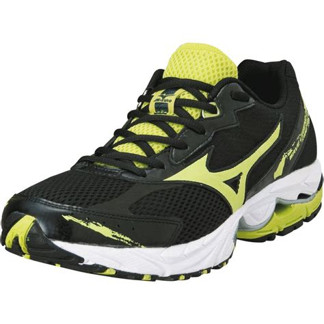 mizuno running shoes mizuno wave legend 2 road running shoes black lime mens at