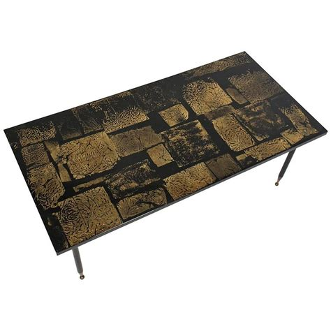 modern gold table l mid century modern gold coffee table for sale at