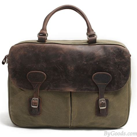 Snap Laptop Bags by Retro Splicing Leather Waterproof Magnetic Snap Large