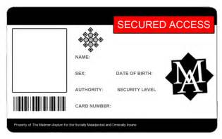 identification card templates free madmen asylum id template by jessiesheram on deviantart