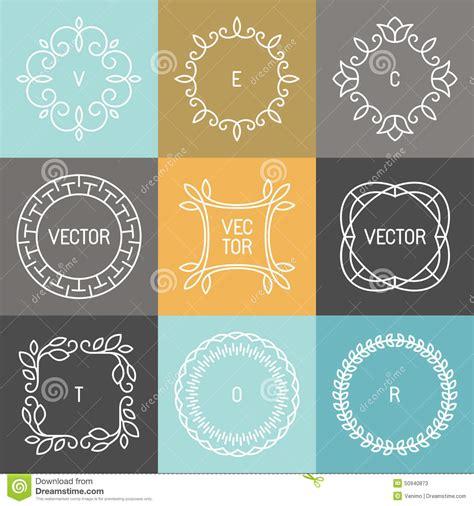 hipster design elements vector vector set of trendy logo design elements stock vector