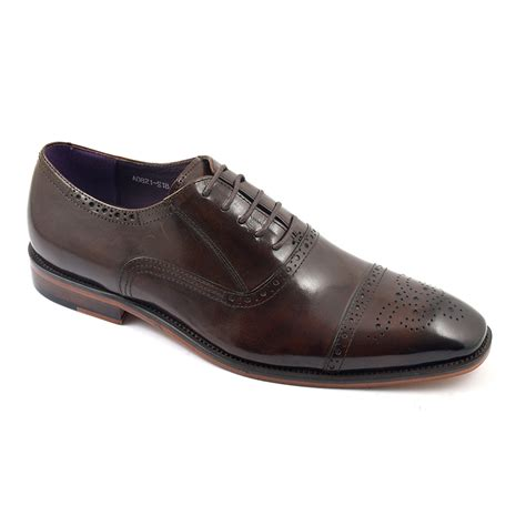 oxford shoes or brogues shop mens brown oxford brogues gucinari style