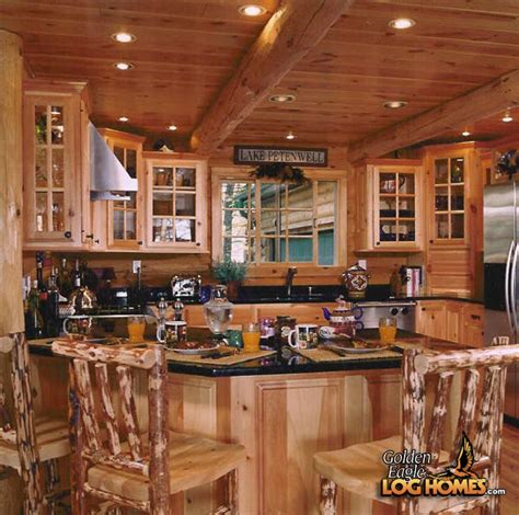 Log Home Kitchen by Golden Eagle Log Homes Log Home Cabin Pictures Photos