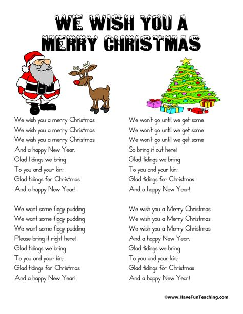 printable lyrics for we need a little christmas printable christmas song lyrics have fun teaching