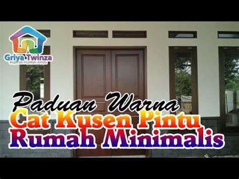 paduan warna cat kusen pintu jendela rumah minimalis