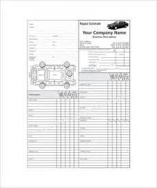 Car Repair Template auto repair estimate template best template idea