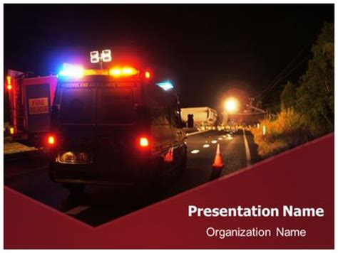 free ambulance emergency powerpoint template