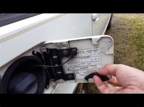 volvo  replacing  fuel door latch youtube