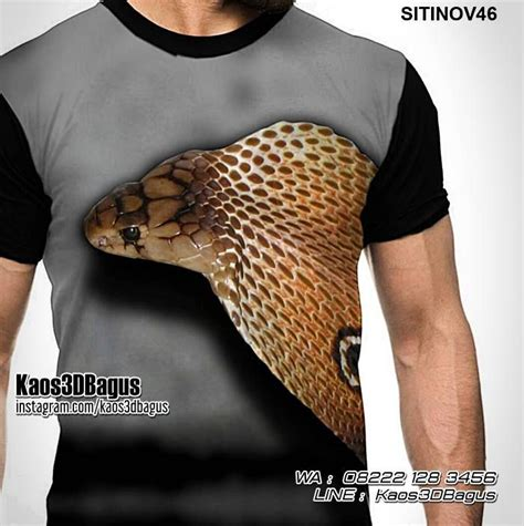 Kaos 3d Hobbit King Cobra kaos ular indonesia and snake reptile