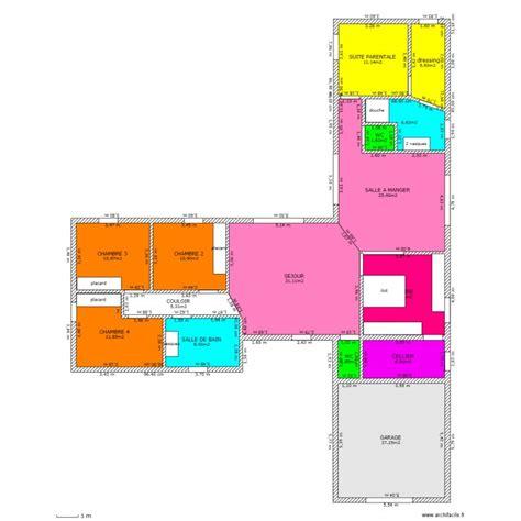 Maison En T Plain Pied by Notre Plain Pied En T Plan 15 Pi 232 Ces 180 M2 Dessin 233 Par