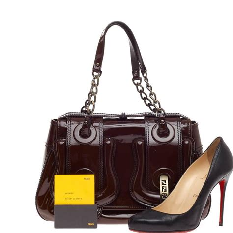 Fendi Patent B Bag Is Oh So by Fendi B Bag Patent Medium At 1stdibs