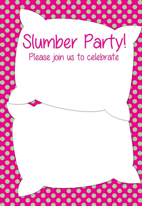 Slumber Invitations Templates Free free printable slumber invitation ideas