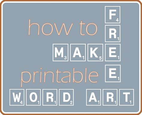 how to design printable wall art make your own printable word art centsational girl
