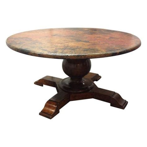 Hammered Copper Dining Table Hammered Copper Pedestal Dining Table Design Plus Gallery
