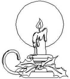 Coloring Page  Christmas Candle Pages 7 sketch template