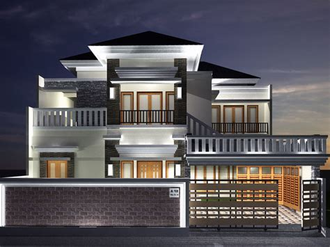 model semi classic modern house cgtrader