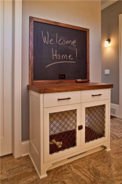 Built In Cabinet For Kitchen 21 stylish dog crates home stories a to z