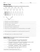 physical science test waves printable 6th 12th grade