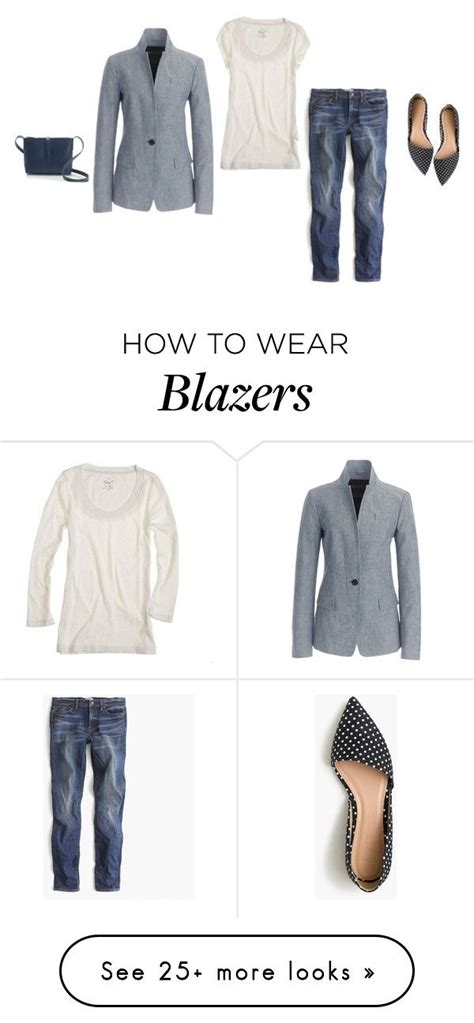 grey blazer polyvore discover and shop the latest in quot jcrew regent blazer in chambray 2015 quot by justvisiting on