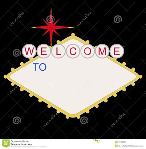 welcome to las vegas sign template blank welcome to las vegas sign stock illustration image