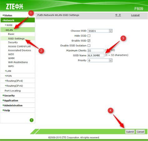 Wifi Lengkap cara mudah settings modem zte f660 wifi lengkap dafunda