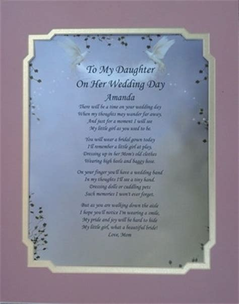 what to gift my on day to my on wedding day poem personalize gift