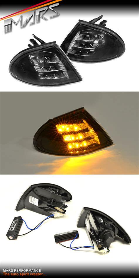 bmw indicator lights black led corner indicator lights bmw e46 sedan 98 01 318i