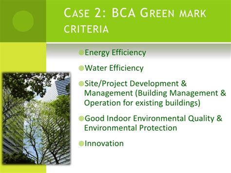 bca quality mark green technology