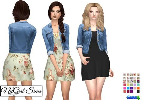 Cc Dress sims 4 cc s the best dress with denim jacket by