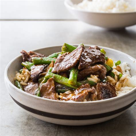 America S Test Kitchen Beef Stir Fry by Teriyaki Stir Fried Beef With Green Beans And Shiitakes