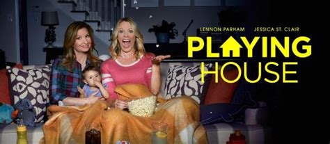 playing house cast usa network brings back sitcom for season 3 sitcom stars on talk shows week of