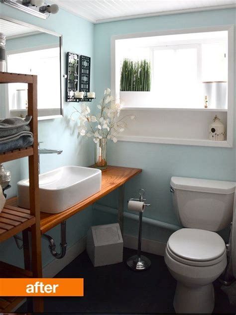 before after a diy bathroom renovation house new
