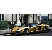 Chrome Gold Lamborghini Aventador SV Roadster How To Ruin