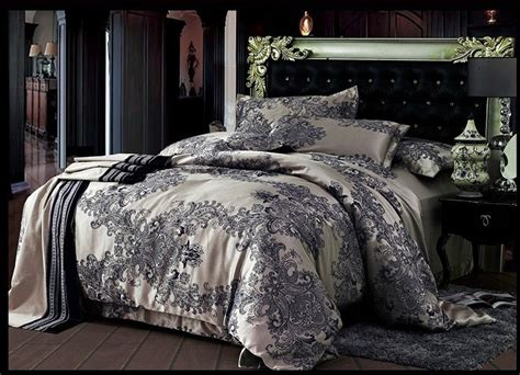 what size is a king comforter jacquard satin cotton silk bedding bedding set quilt duvet