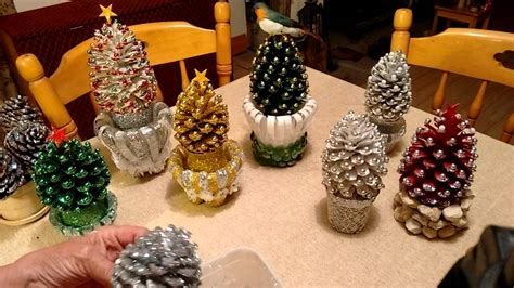 beautiful pine cone christmas decorations with stand also