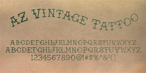 Az Vintage  Ee  Tattoo Ee   Font By Artist Of Design  E  A Fontspring