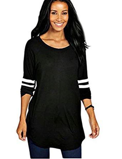 Tunik Jacket By Mlb 1 ours womens crewneck sleeve baseball t shirt tunic tops at s clothing store