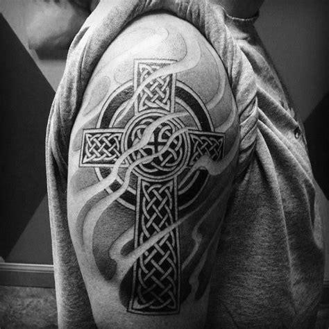 shaded cross tattoo designs 100 celtic cross tattoos for ancient symbol design