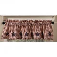 Americana Kitchen Curtains 2 Curtain Valances Americana Navy Cotton Fabric Free Ship Alesa