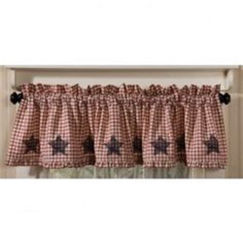 2 curtain valances americana navy cotton