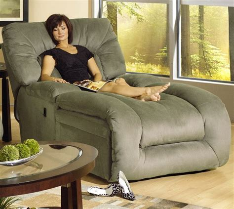 recliner chaise lounge jackpot reclining chaise in sage microfiber fabric by