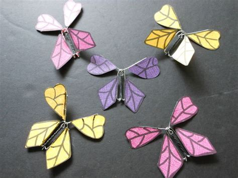 How To Make A Paper Butterfly That Flies - how to make a twirling paper butterfly