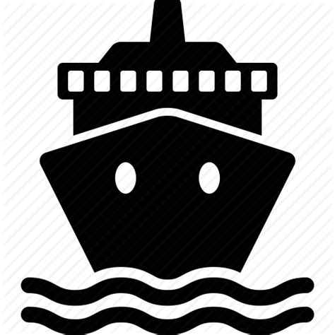 boat wave icon vehicles transportation by martial red