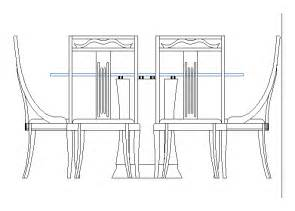 Free Autocad Dining Table Dining Table In Autocad Drawing Bibliocad
